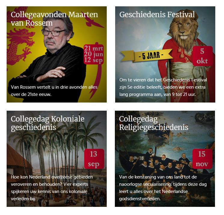 Collegedagen Historisch Nieuwsblad
