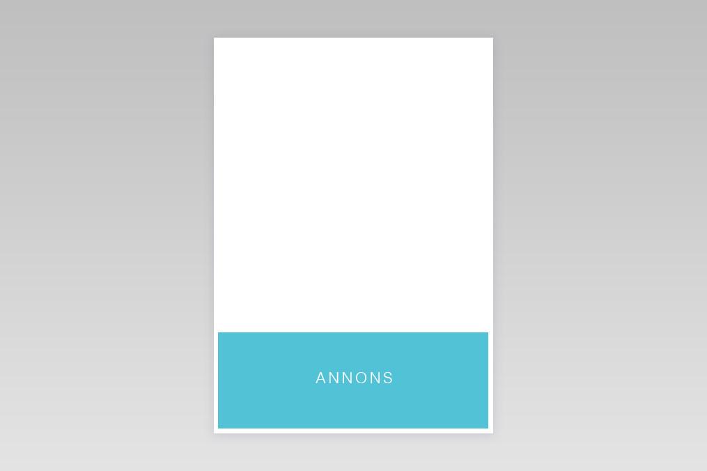 1/4 Quater Page - Horizontal