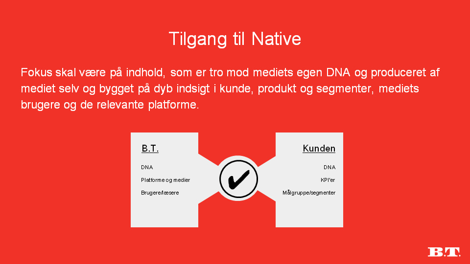 Tilgang til Native