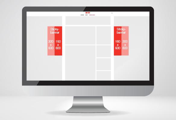 Sticky banner - desktop