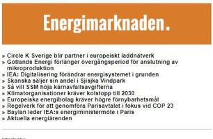 Energimarknaden Nyhetsbrev