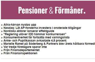 Pension & Förmåner