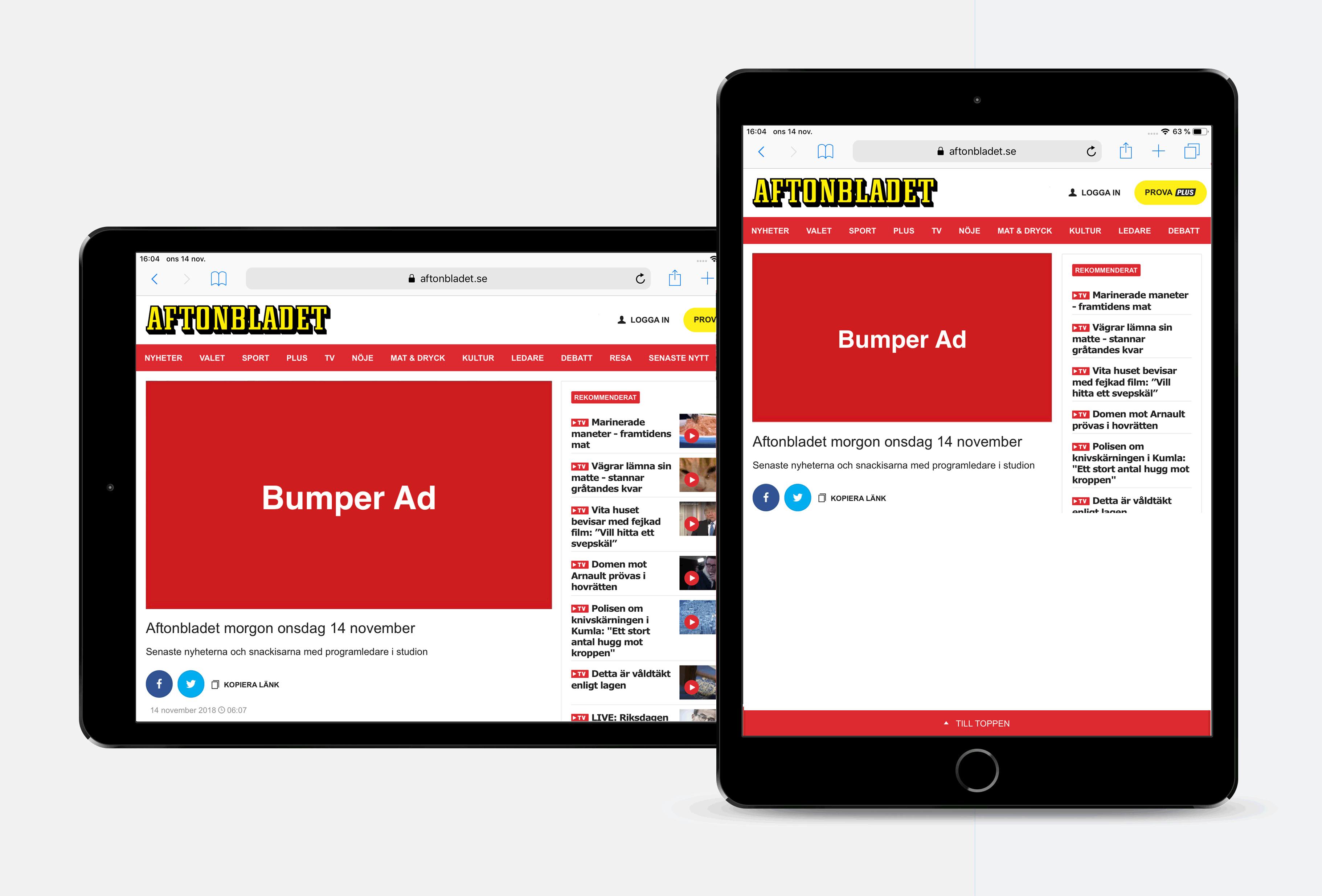 Bumper ad - Tablet