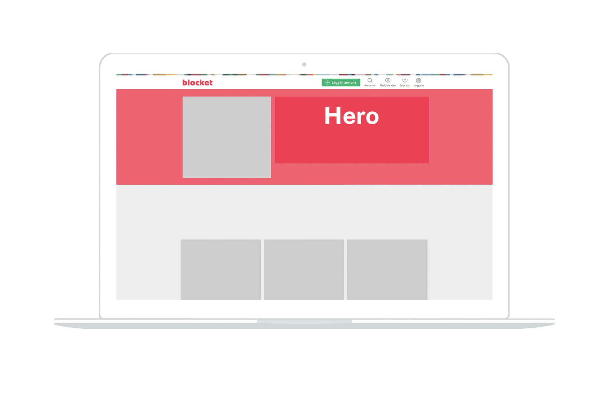 Blocket HERO - Startsida