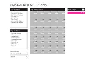Priskalkulator Annonse - Print