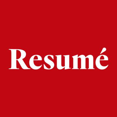Logotyp för Resumé