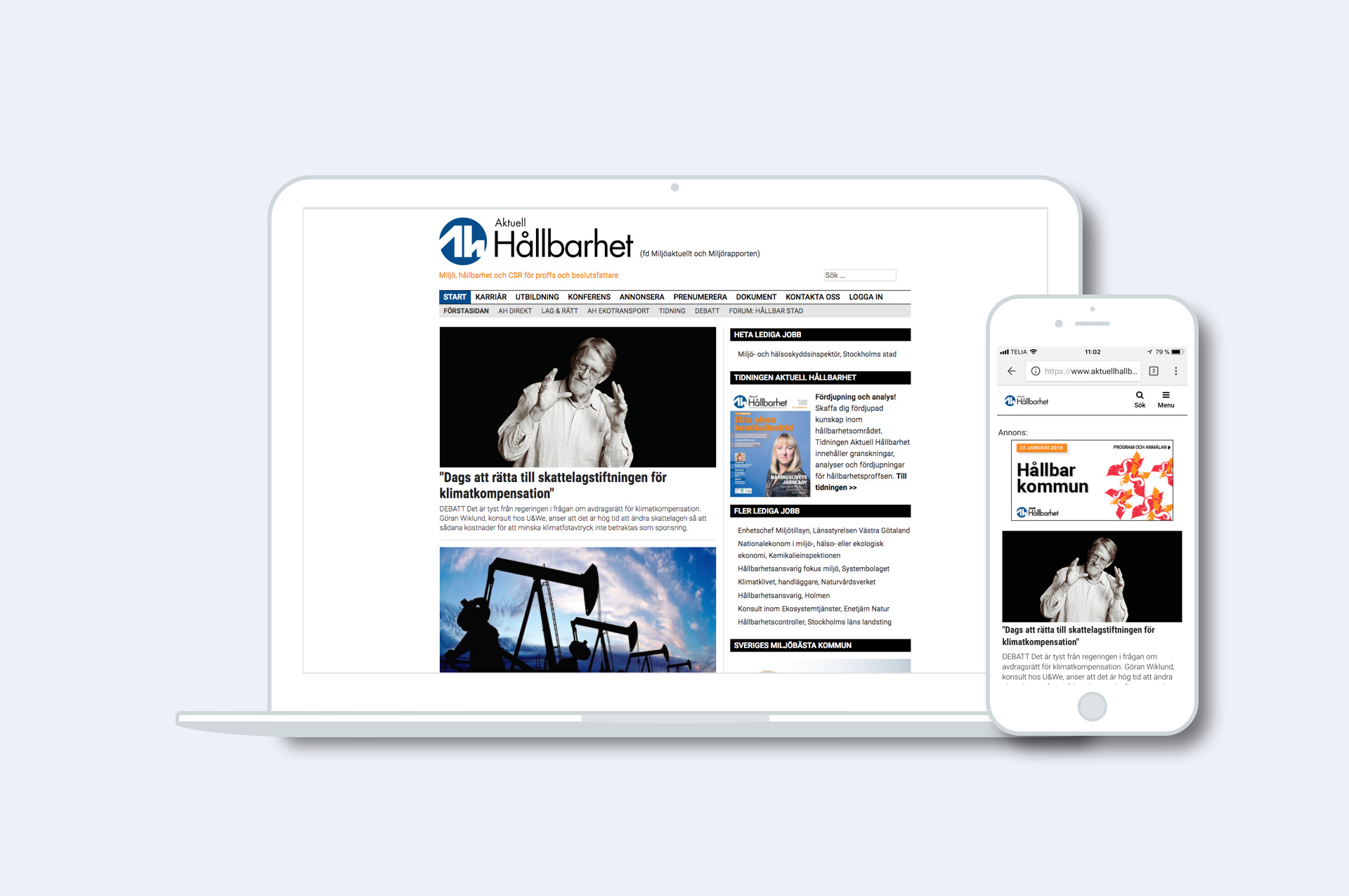 Content online och print