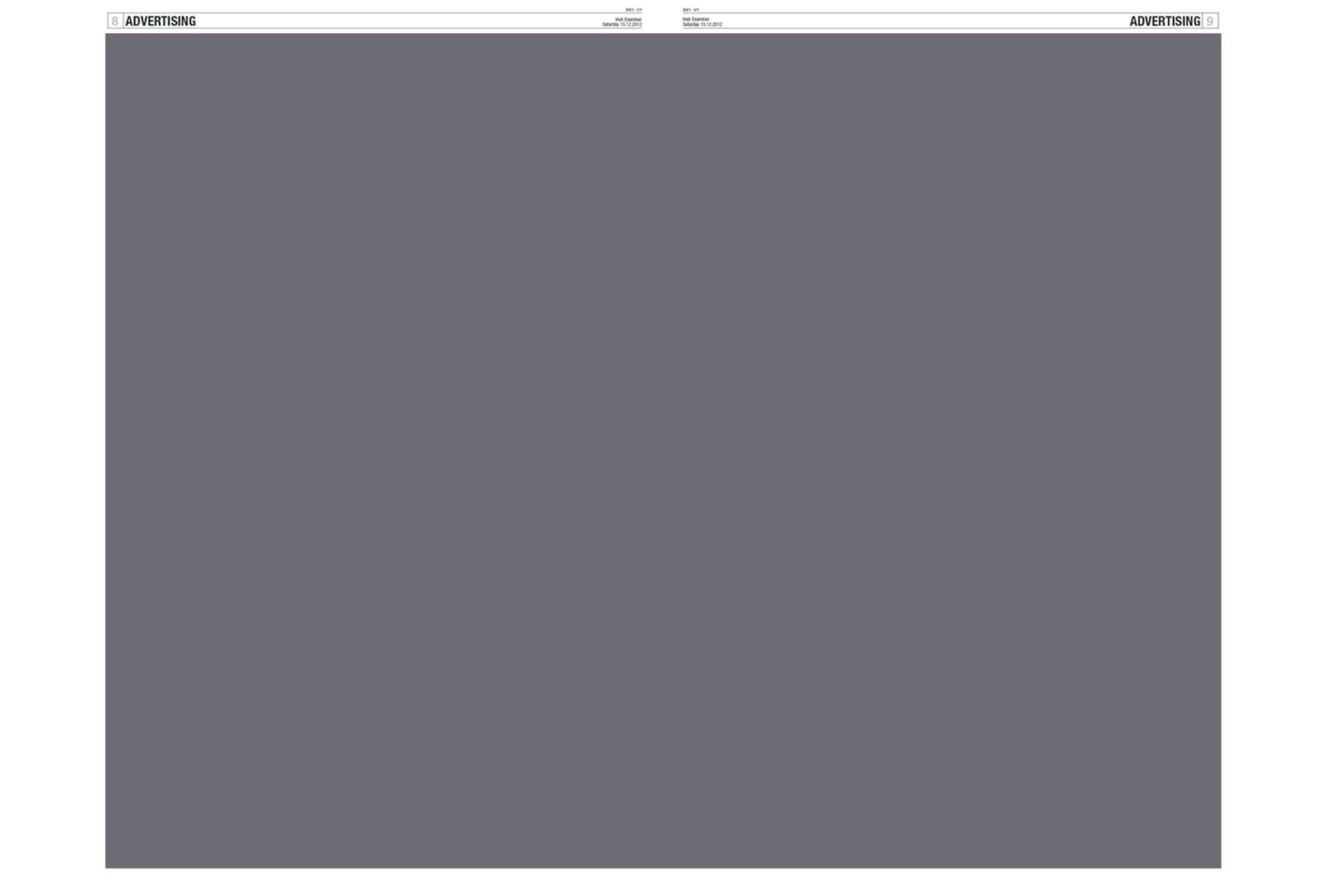 Double Page Spread Broadsheet Mono