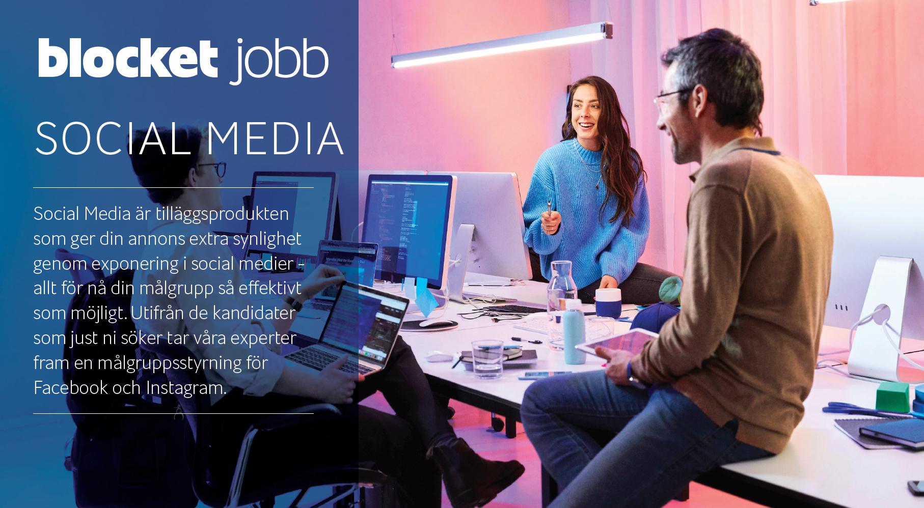 Social Media -Tilläggsprodukten som ger din annons extra synlighet genom exponering i social medier - allt för nå din målgrupp så effektivt som möjligt.