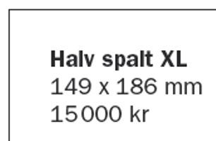 Halv spalt XL