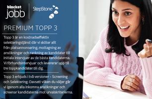 PREMIUM TOPP 3 - Spara tid: vi tar hand om både selektering och initiala intervjuer