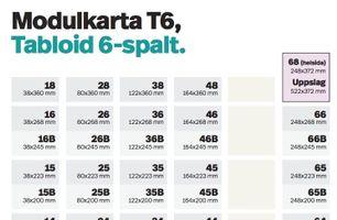 Modulkarta T6, Tabloid