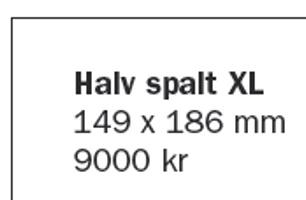 Halvs spalt XL