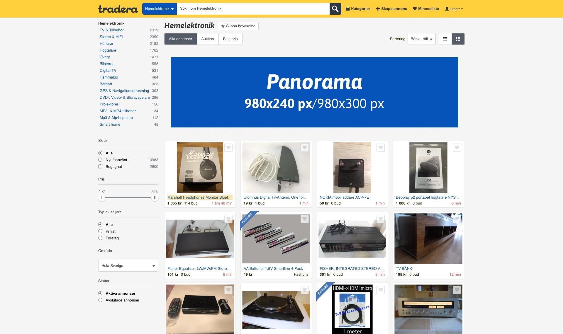 Panorama Category Page