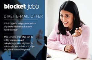 DIRECT E-MAIL OFFER - Utskick till kandidater i en av Sveriges tyngsta talangdatabaser