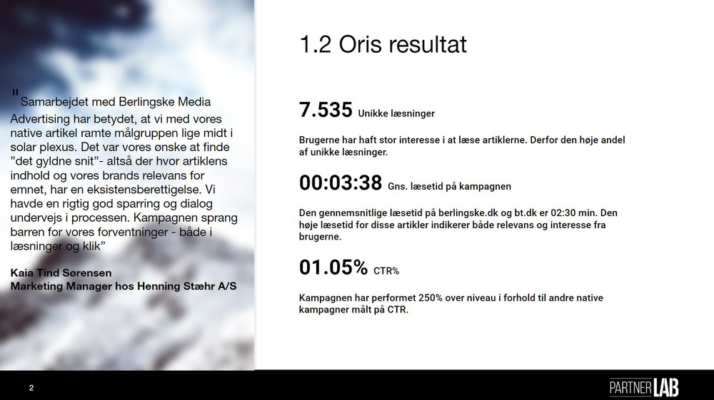 Oris native kampagne