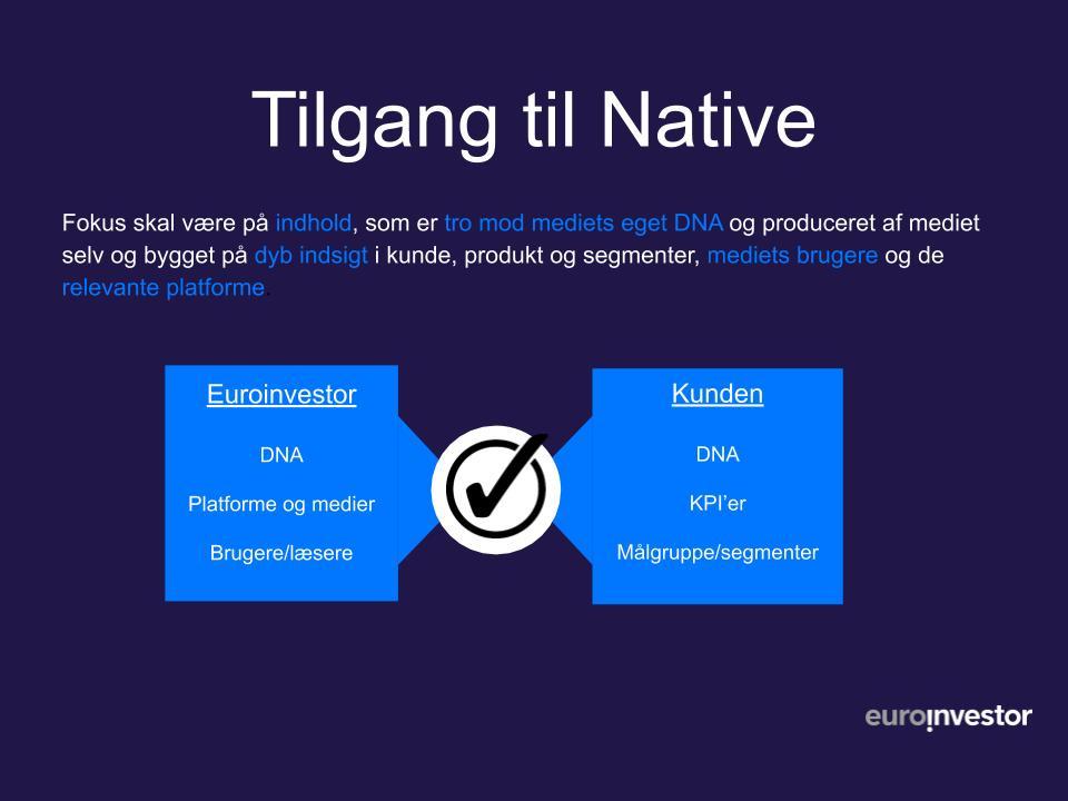 Tilgang til Native